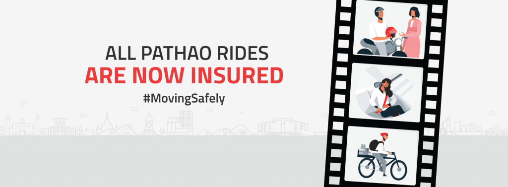 Pathao giving insurance to riders and users.